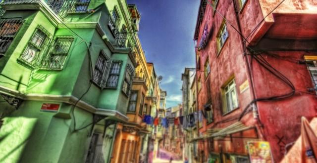 Wonderful Old Neighborhood Hdr HD Desktop Background